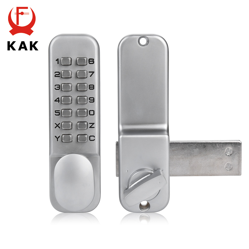 Home Improvement Mechanical Digital Door Lock Zinc Alloy Push Button Keyless Entry Code Combination Lock Home Security Furniture Hardware