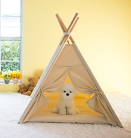 2018 New Portable Folding Pet Tent Dog House Dog Bed Pet House Tent Wood Kennel Puppy Love Dog Cat Bed House With Mat Pet Supply