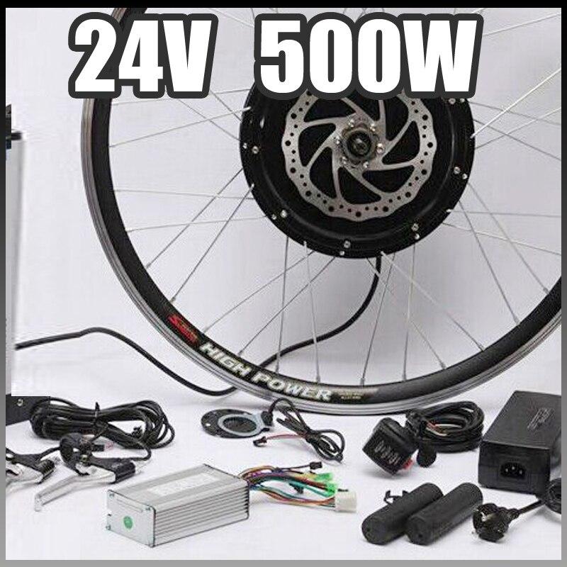 E bike 24v 500w motor with disc brakes hub electric for 500w hub motor kit