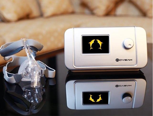 MOYEAH Auto CPAP Ventilatore Macchina Medica Con Maschera Nasale Pieno Viso Inserire La Scheda SD Per Apnea Del Sonno Nasale Anti Russare