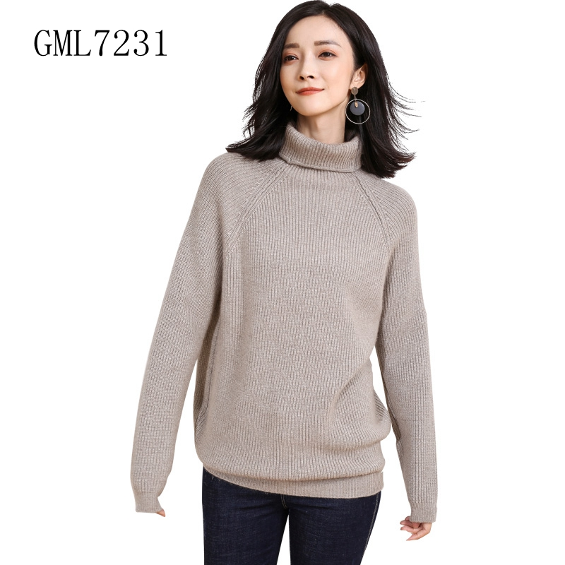 2017 Winter new design women thick women cashmere wool knitted pullover sweater free shipping- GML7231