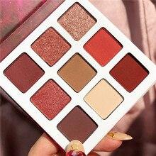 купить 9 Colors Eyeshadow Palette Shimmer Matte Glitter Makeup Eyeshadow Pallete Pigment Smoky Eye Shadow Palette Cosmetic Eye Pallete дешево