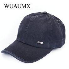 Wuaumx Retro gorra de béisbol hombres mujeres sombrero de Snapback de verano  Solid Sun Bonnet 100 9ad7ef8c98d