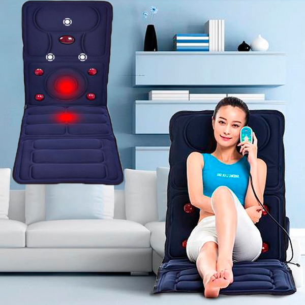 Black Vibration Massage Mat with Heating Function Massage Seat Cushion For Sale Black Vibration Massage Mat with Heating Function Massage Seat Cushion For Sale