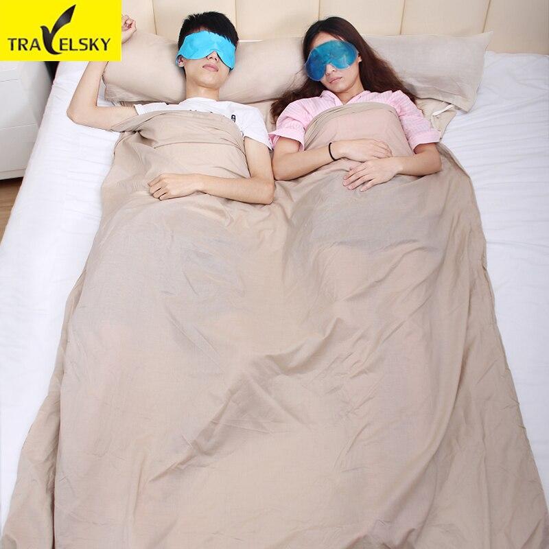 Travel Accessories Portable Folding Travel Sleeping Bag Lazy Bag Envelope Square Hotel Home Moisture-proof Sleeping Bag Couple