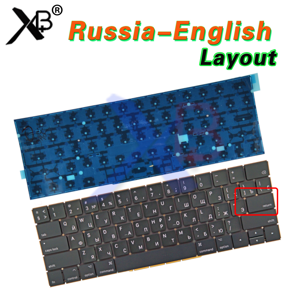 New A1707 Small Enter RS Russian keyboard for Macbook Pro Retina 15 A1707 Small Enter RS