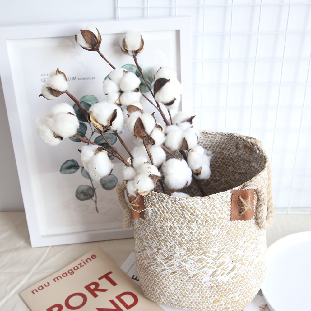 Image 2 - Naturally Dried Cotton Flower Artificial Plants Floral Branch For Wedding Party Decoration Fake Flowers Home Decor #L-in Artificial & Dried Flowers from Home & Garden