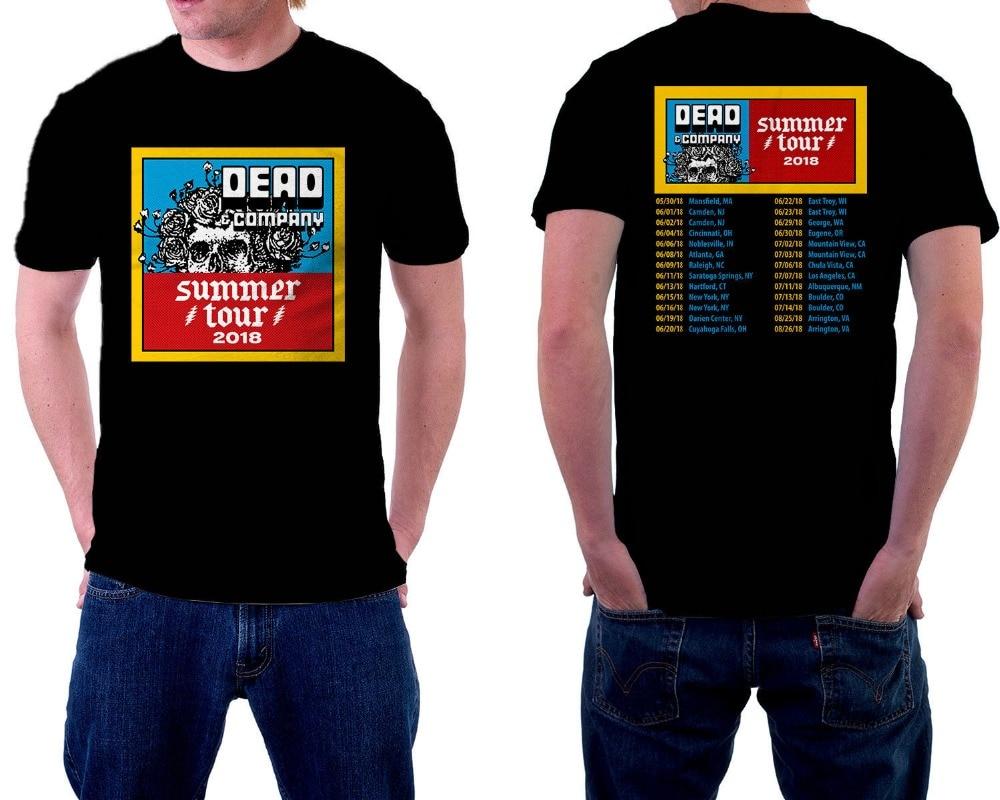 Create Your Own Shirt Design Crew Neck Dead Company Tour 2018 Short