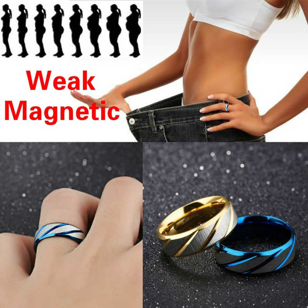 Magnetic Therapy ลดน้ำหนักแหวนสแตนเลส Healthcare Hand String Slimming Healthy Stimulating Acupoints Gallstone แหวน