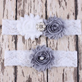 White Lace Large Size Crystals Wedding Garter Sexy Leg Bridal Garter Portaligas Mujeres Garter Belt Sets Giarrettiera 1 set