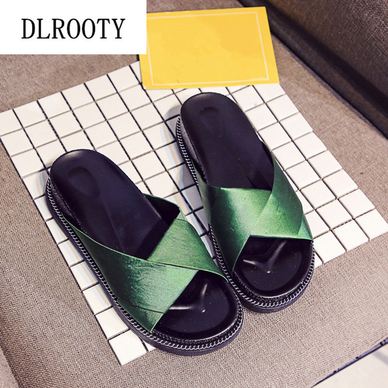 Women Slippers Sandals Flip Flops 2019 New Summer Fashion Breathable Non-slip Shoes Woman Slides Outside Casual Female Platform