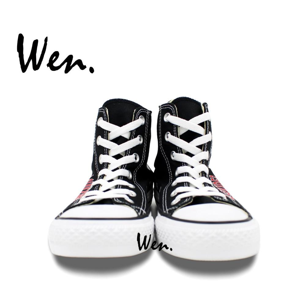 Wen Ručno oslikane cipele Dizajn Custom Lightning R5 Muškarac - Tenisice - Foto 4