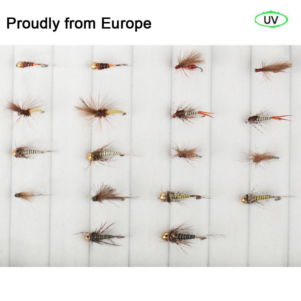 Best Sale Quality Riverruns 18 Competition Flies Trout UV Flies Nymph Flies Fly Fishing Flies New riverruns realistic flies 24pcs bag stone fly nymph flies leg 4 color 3 size