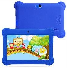 7 дюймов детей Tablet PC коробки конструкция с двойной Камера поддерживает 55 стран Язык для детей подарок