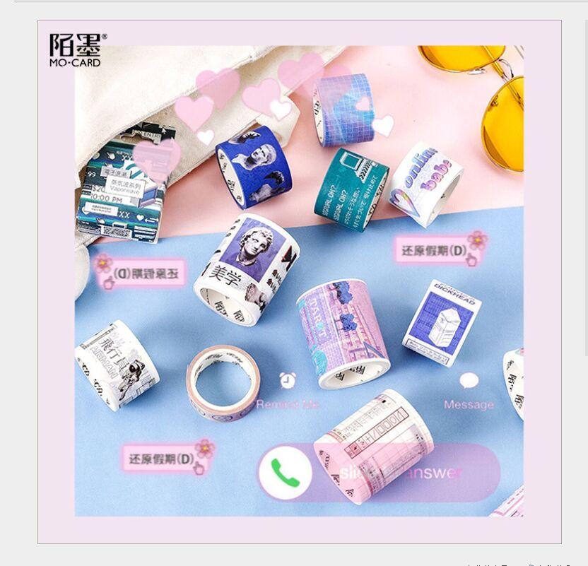 Dreamlike Web Celebrity Style Virtual Space Universe Girl Pink Dream Vaporwave Washi Tape DIY Planner Scrapbooking Masking Tape