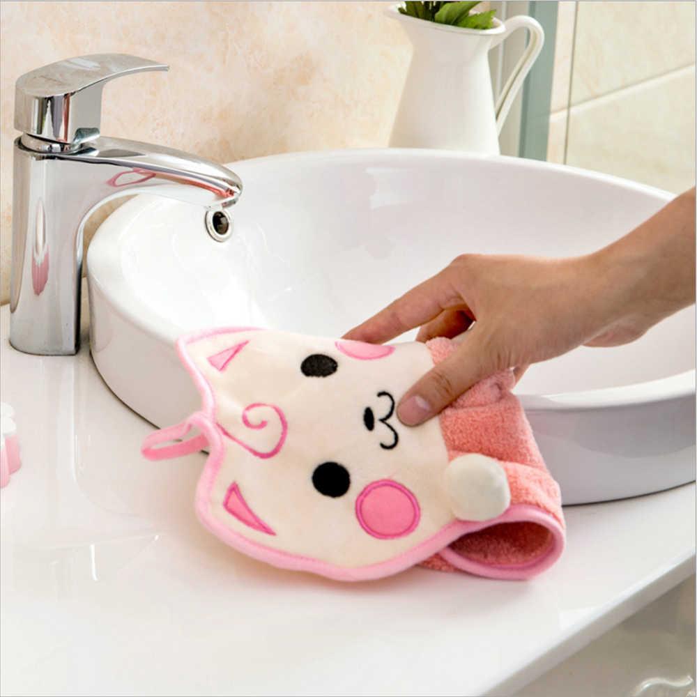 Для кухни, ванной комнаты, водопоглощающая ткань, подвесные полотенца для рук, конфетный цвет, Dishcloths, платок, милый мультяшный Кот, полиэстер