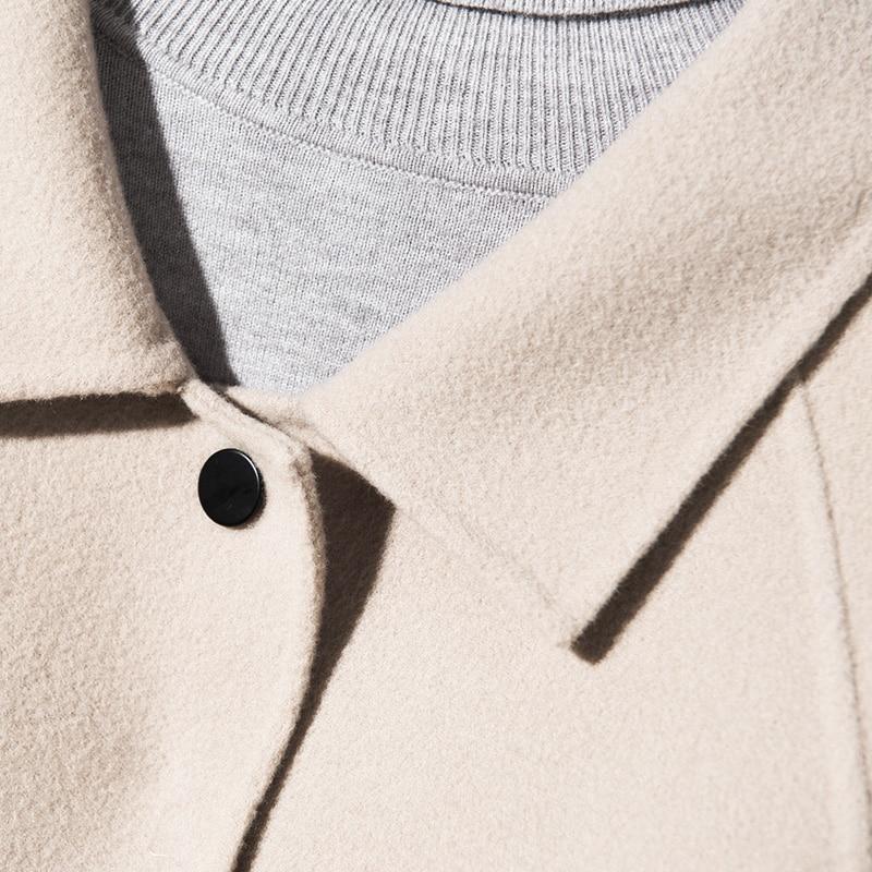 Chaud Droit Long Au Noir Style Col Lâche Épaississement 2018 Qualité Manteau Camel Garder Main Design Pure Laine light Avec Haute Femmes Nouveau q7gwZaU