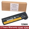 Korea Cell Original New Laptop Battery For Lenovo Thinkpad X240 X240S X250 X250S T450 T450S T440