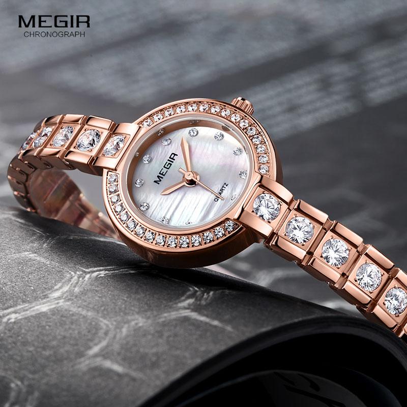 90056cc6e66 Megir Relógios Vestido De Diamantes de Luxo para As Mulheres Simples Relogios  Relógio Analógico de Pulso