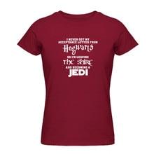 afa03ba2cec Hogwarts Lord of the Rings JEDI T Shirt Women Men Funny T-shirts Summer  Casual