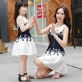 Family Matching Outfits Summer Cute Mom and Daughter Dresses Matching Mother Daughter Family Outfit