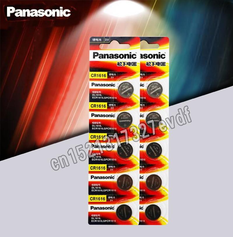 CR1616 10PCS Button Cell Coin Batteries Panasonic 100% Original Cr 1616 3V Lithium Battery DL1616 ECR1616 LM1616