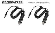 2шт автомобиль зарядное устройство для рации Baofeng UV-5r DV 12V зарядка кабель UV5r UV-82 UV-5RE UV-9R Uvb2 зарядное устройство рация рация аксессуары