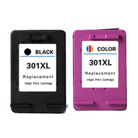 2 Pcs For HP 301 XL Compatible Ink Cartridge With Ink For HP DeskJet 1050 2050