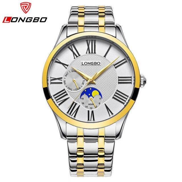 2017 Fashion Couple Analog Watches Women Dress Wristwatch LONGBO Luxury Brand Me