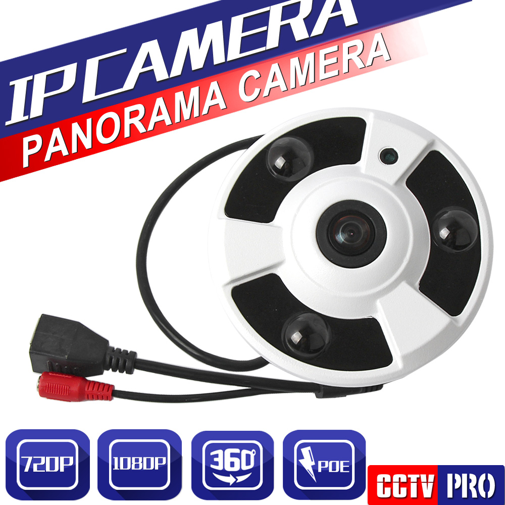 HD 1MP 2MP 720P 1080P Indoor CCTV Security Fisheye Full View Wide Angle 360 Degree POE