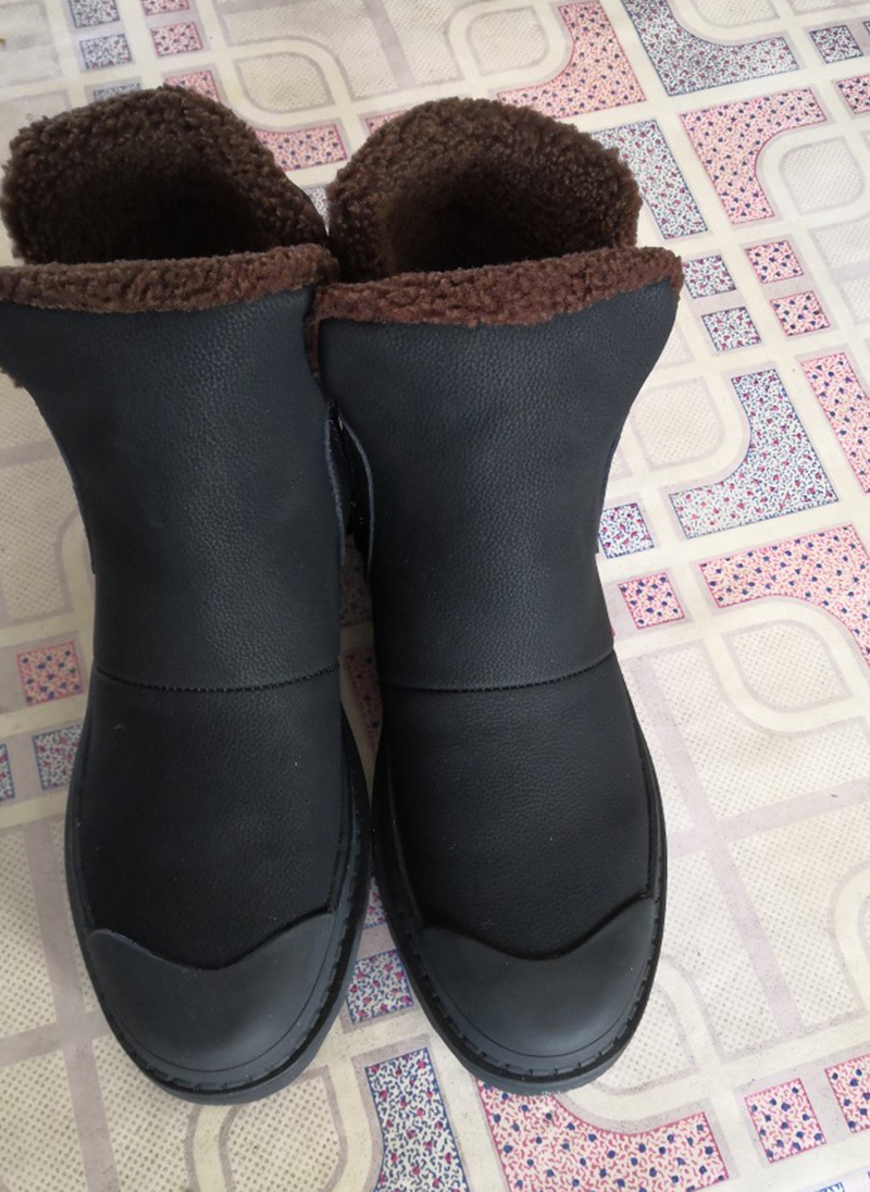 plataforma neve snowboot grosso sola cheia sapatos de grão falso