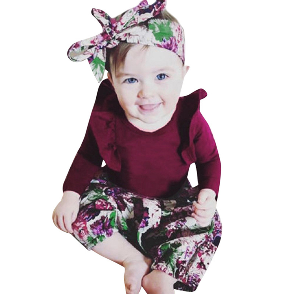 Ruffle Shorts Leg Warmer Headband Outfits Camidy 4Pcs Newborn Baby Girl Romper