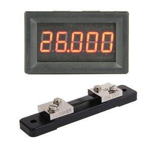Image 2 - Amperímetro digital DC 0 50.000A 5Bit + shunt +  50A alta precisión amperio medidor de detección de corriente medidor de descarga de carga