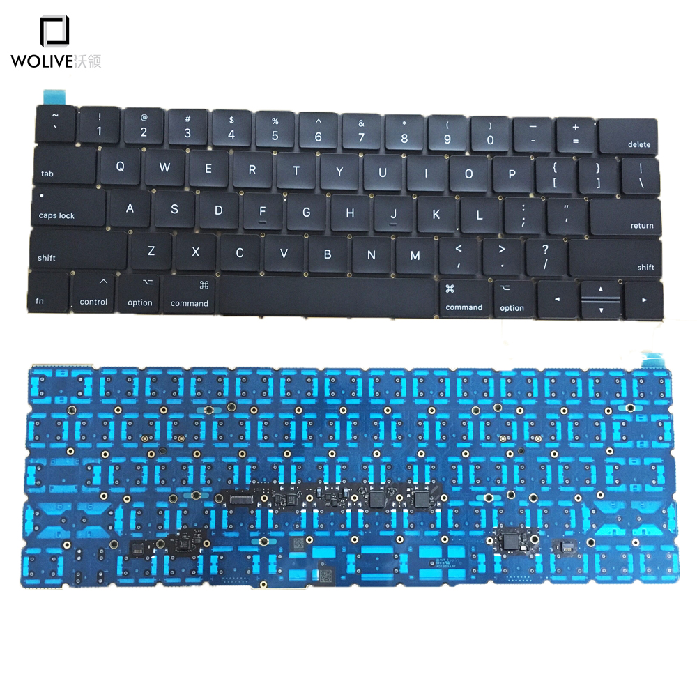 Original New US keyboard For Macbook 13 A1706 A1708 US Layout language Keyboard 2016 Year цена