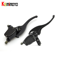 KEMIMOTO 7/8 22mm handlebar Left Right Brake Master Cylinder levers For Polaris 400 500 700 800 for HAWKEYE 300 for BIG BOSS