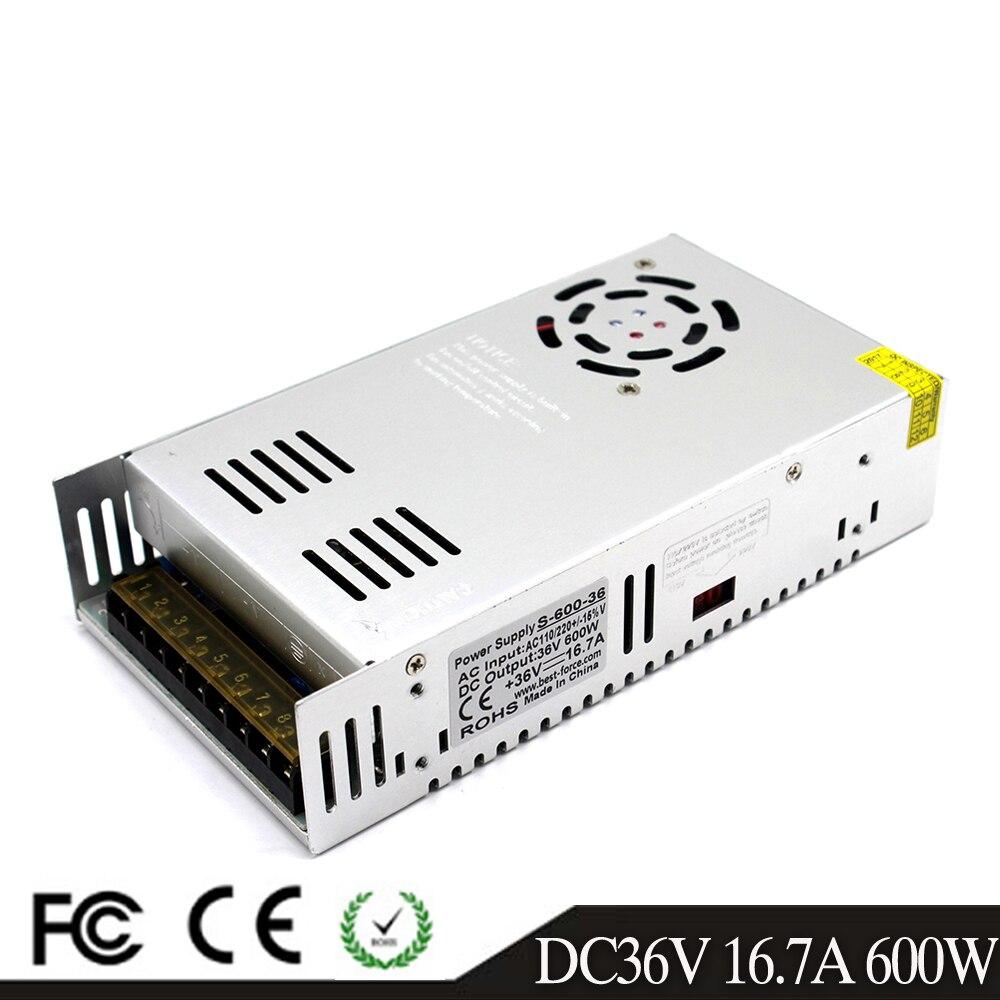 Power Supply Swiching DC12V 24V 36V 48V 60V 18V 30V 42V 600W Lighting Transformers 110V 220V