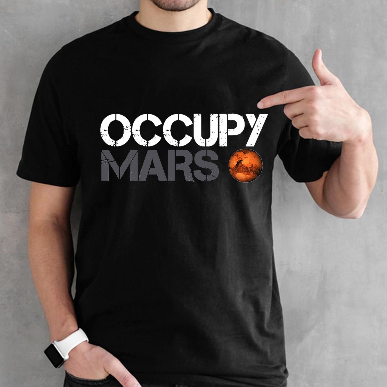 Space X t-shirt Tesla t-shirts haut décontracté design populaire occuper Mars 100% coton t-shirt