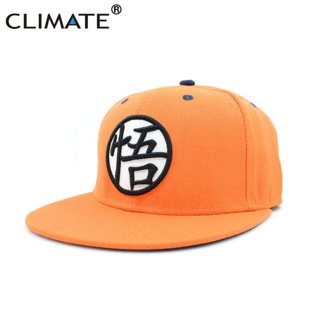 best website 8c736 d5919 ... italy climate 2017 new dragon ball kakarotto orange flat snapback  hiphop caps hat unisex youth adult