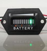 12V 24V LED Digital Battery Indicator Gauge Meter Tri Colors Rectangle Golf Cart