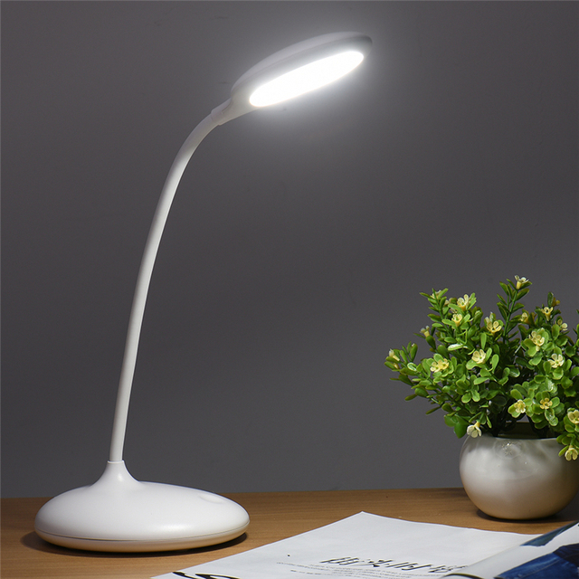 New Design Desk Lamps Touch Sensor Kids LED Eye Care Table Reading Lamp Light With Adjustable Gooseneck For Studying Working
