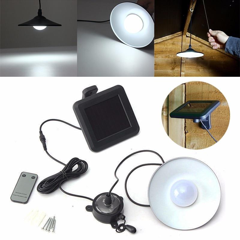 Patio Decking Hanging Garage Shed Vintage LED Solar <font><b>Lighting</b></font> Lamp Outdoor LED Garden Light Solar Powered Remote Controlled Lamp
