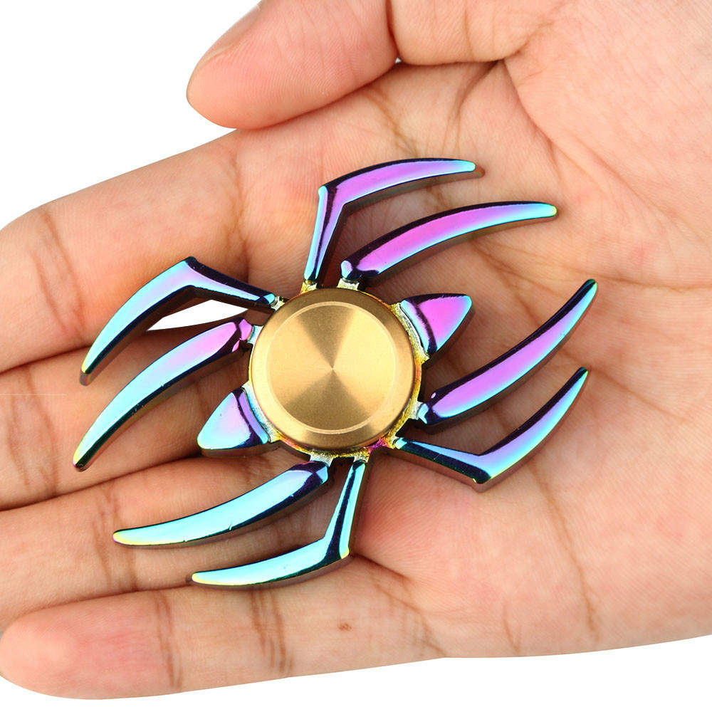 Top Spinner Toy Rainbow Spider Metal Fidget Spinner Aluminium Colorful 2017 New Hand Spinner Metal Rainbow Figet Spiners Autism
