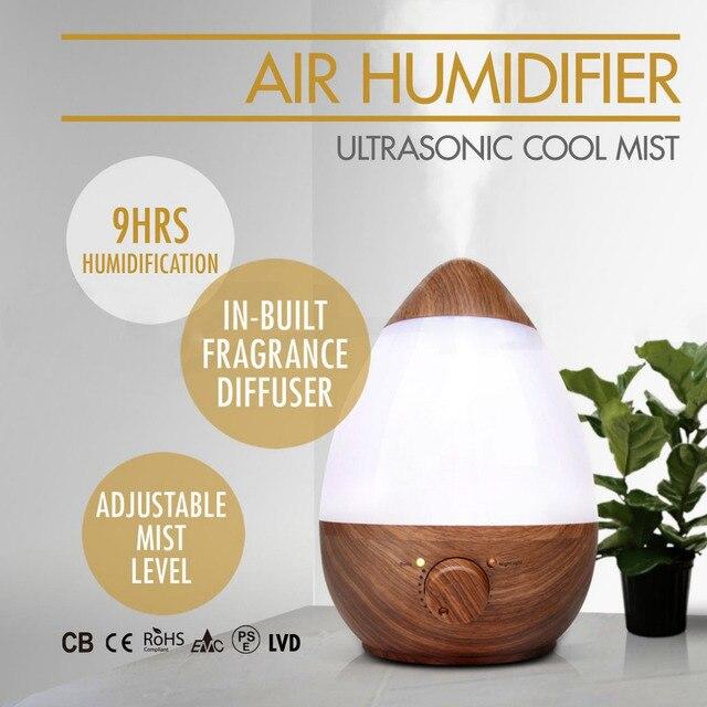 2.3L Bois Motif Humidificateur Accueil Chambre De Bébé Humidificateur  Parfum Calme Gouttes Du0027eau