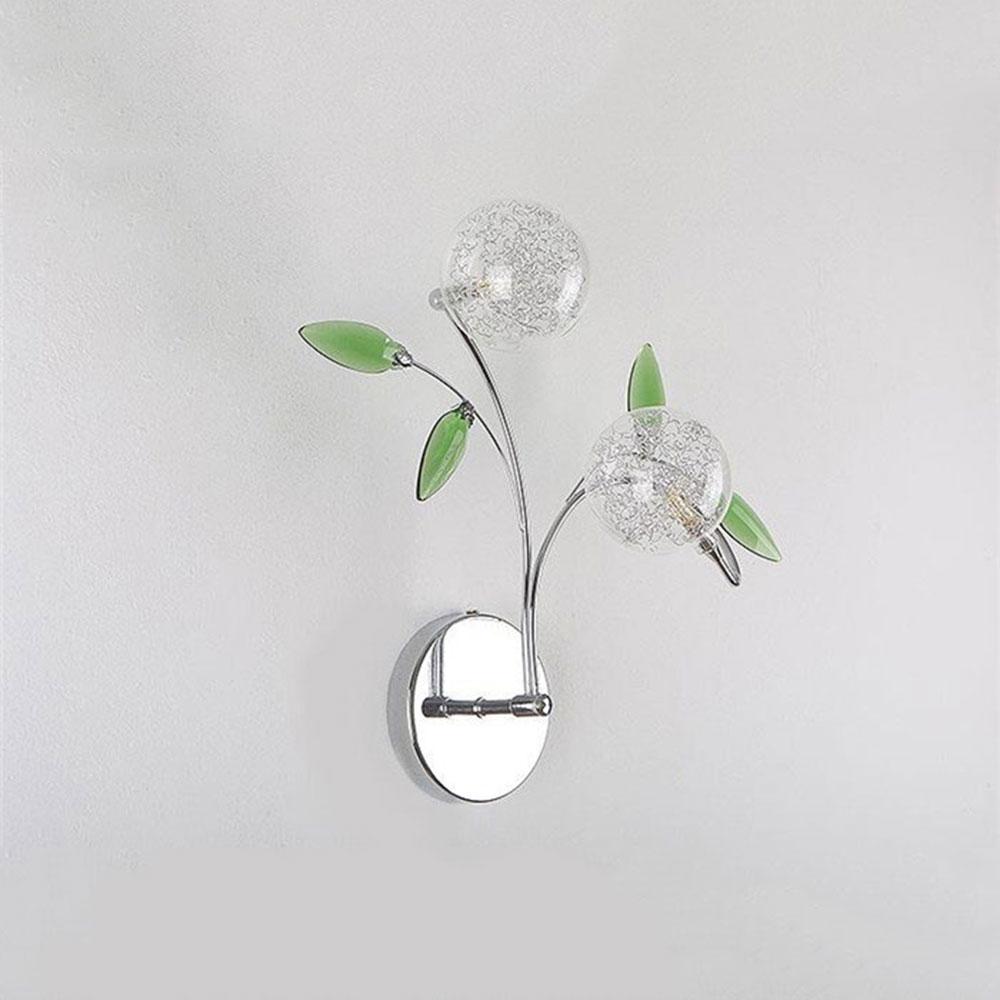 ФОТО AC110V 220V 2016 New Aluminum wire LED wall lamp lights sonces Green crystal leaf decoration lustre abajur luminaire lighting