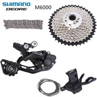 SHIMANO DEORE M6000 10 speed 4pcs Rear Derailleur + Right Shifter + HG500 11 42T Cassette + HG54 Chain upgrade from M610 group
