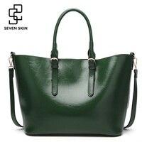 SEVEN SKIN Brand 2017 New Women Handbags Solid PU Leather Bags Women S Shoulder Bag Female