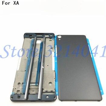 Volle Gehäuse Nahen Front Rahmen Lünette Gehäuse Für Sony Xperia XA F3111 F3112 F3115 + Seite Schiene Streifen mit Seite tasten + Logo