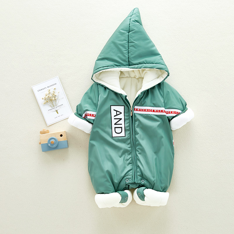 Children Boys Rompers 2018 New Winter Long Sleeve Letter Velvet Baby Girls Romper Newborn Thicken Kids Cotton Clothing 4rr188 newborn winter autumn baby rompers baby clothing for girls boys cotton baby romper long sleeve baby girl clothing jumpsuits