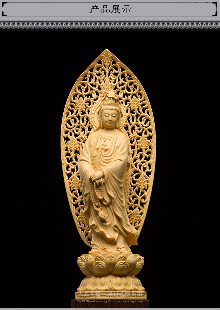 2018 exquisite japan carving buddha statue goddess quality solid