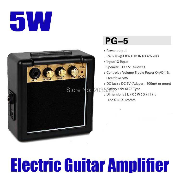 free shipping 9v battery dc jack mini electric guitar amp power amplifier pg 5 5w electric. Black Bedroom Furniture Sets. Home Design Ideas